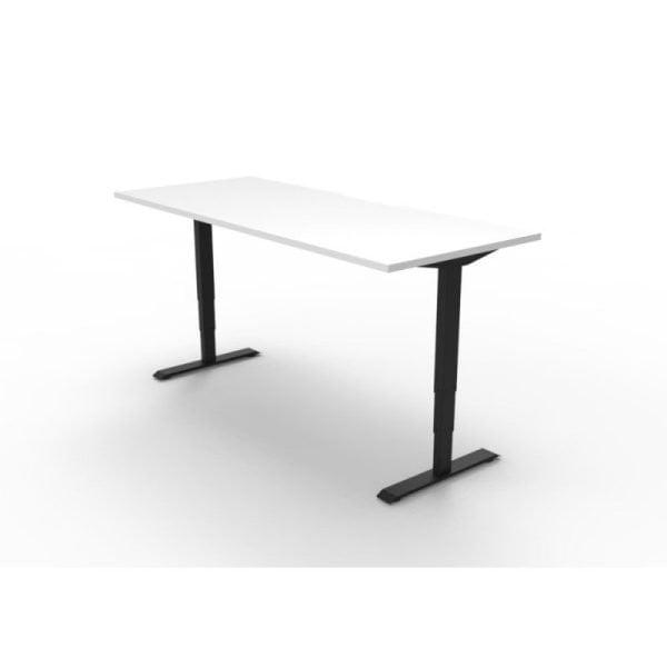 Boost Electric Height Adjustable Desk White Worktop Black Frame