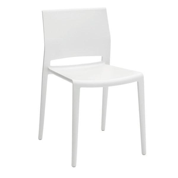 Bakhita Stacking Chair White